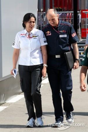 Monisha Kaltenborn, Managing director BMW sauber F1 Team with Franz Tost, Scuderia Toro Rosso, Team Principal