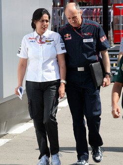 Monisha Kaltenborn, Managing director BMW sauber F1 Team with Franz Tost, Scuderia Toro Rosso, Team Principal