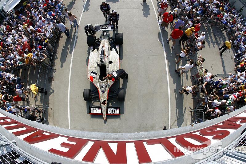 Car of J.R. Hildebrand, Panther Racing