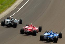 Pace lap: Alex Tagliani, Sam Schmidt Motorsports, Scott Dixon, Target Chip Ganassi Racing y Oriol Servia, Newman / Haas Racing