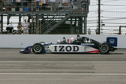 Mario Andretti drives the 2-seater Indy Car