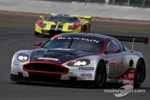 #4 Hexis AMR Aston Martin DBR9 GT1: Andrea Piccini, Christian Hohenadel