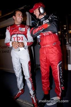 Benoit Tréluyer with Dr. Wolfgang Ullrich after his pole winning lap