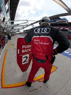 #2 Audi Sport Team Joest Audi R18 TDI pit board