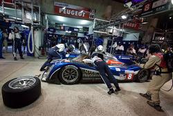 Pit stop for #8 Peugeot Sport Total Peugeot 908: Franck Montagny, Stéphane Sarrazin, Nicolas Minassian
