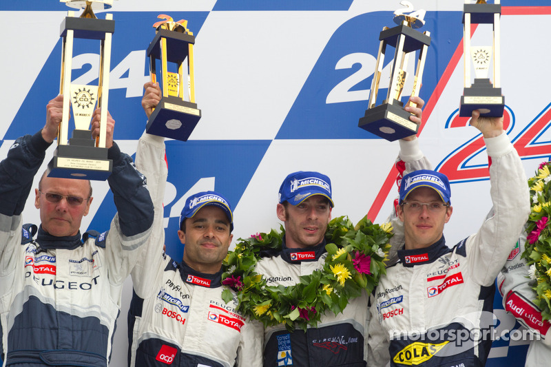 Olivier Quesnel, Pedro Lamy, Simon Pagenaud and Sebastien Bourdais