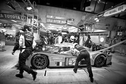 Pit stop for #22 Kronos Racing Lola Aston Martin: Vanina Ickx, Maxime Martin, Bas Leinders