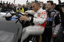 Lewis Hamilton and Tony Stewart