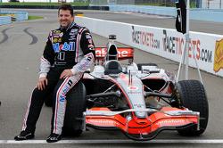 Tony Stewart with Lewis Hamilton's McLaren