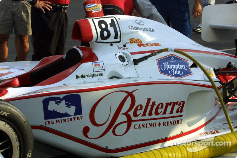 Preparing for the race: Billy Roe's car