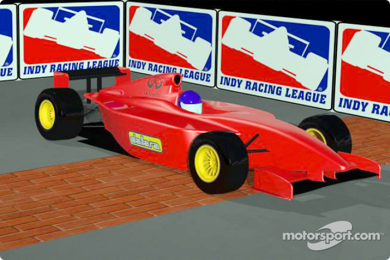 Rendering of the Indy Racing Infiniti Pro Series, a new racing series created on the same founding principles of the Indy Racing League that will make its debut in mid-2002