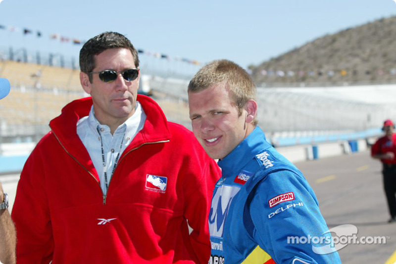 USAC Silver Crown driver Ed Carpenter and Tony George