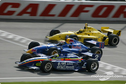 Jaques Lazier, Eddie Cheever et Sam Hornish Jr.