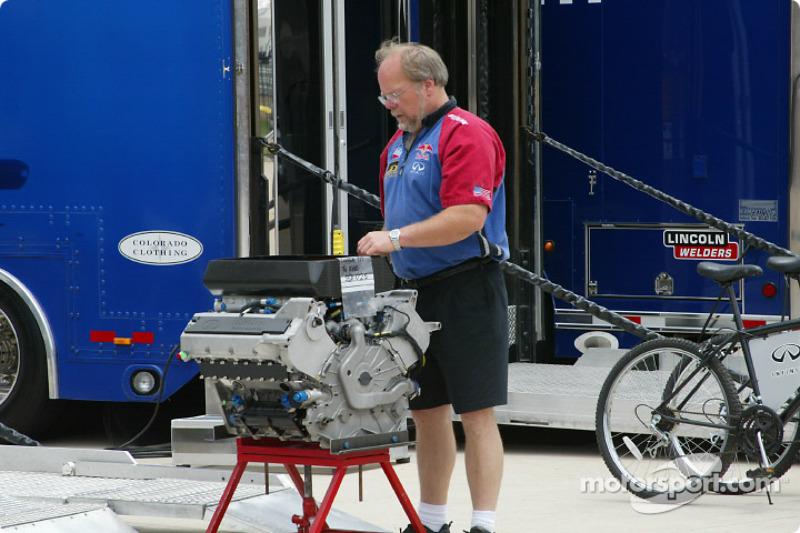 Cheever Indy Racing crew member