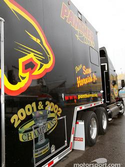 Panther Racing transporter