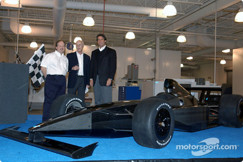 Tony George and Falcon Cars President Michael Kranefuss