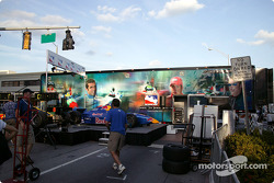 Toyota Indy Feat held in South Beach, Miami: Cheever Racing show car