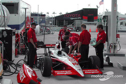 Chip Ganassi Racing crew at the gas pump