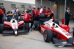 Teams get ready for practice session