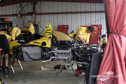 Panther Racing crew repair Sam Hornish Jr.'s car