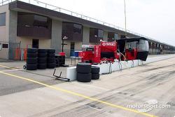Ganassi Racing test pit box