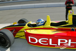 Indy Experience two-seater IndyCar: Sarah Fisher pulls into pitlane