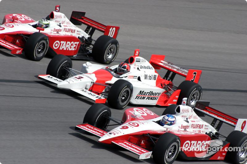 Tomas Scheckter, Helio Castroneves et Scott Dixon