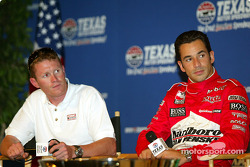 Press conference with IRL title contenders: Scott Dixon and Helio Castroneves