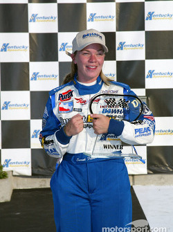 Pole winner Sarah Fisher