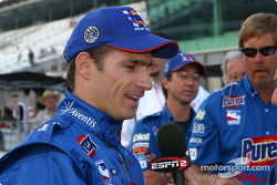 Felipe Giaffone reacts to questions after his qualifying run