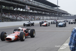 Vintage racers: Gerhard Special leads a field of classic racers