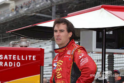 Bryan Herta watches practice