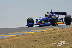 Davey Hamilton drivers the IRL two-seater around Sears Point Raceway