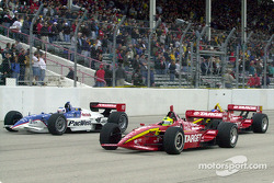 Scott Dixon, Bruno Junqueira and Nicolas Minassian