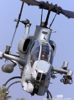 Patrick Carpentier à bord d'un hélicoptère Cobra à Camp Pendleton, une base des Marines à l'extérieur de San Diego