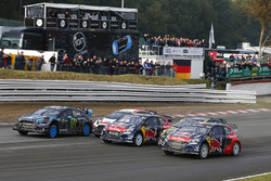 Andreas Bakkerud, Hoonigan Racing Division Ford; Timmy Hansen, Team Peugeot Hansen; Tanner Foust, Volkswagen; Davy Jeanney, Team Peugeot Hansen