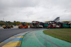 Les travaux sur le Circuit Bugatti du Mans