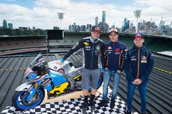 Jack Miller, Estrella Galicia 0,0 Marc VDS; Marc Marquez, Repsol Honda Team; Brad Binder, Red Bull KTM Ajo