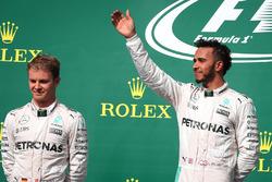 Nico Rosberg, Mercedes AMG Petronas F1 W07 and Lewis Hamilton, Mercedes AMG F1 W07