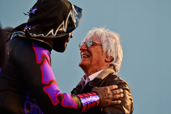 Bernie Ecclestone, with Mexican wrestlers