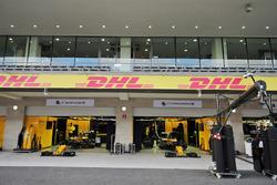 Renault Sport F1 Team pit garages