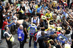 Valentino Rossi, Yamaha Factory Racing signs autographs for the fans