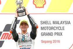 Podium: race winner Francesco Bagnaia, Aspar Team Mahindra Moto3