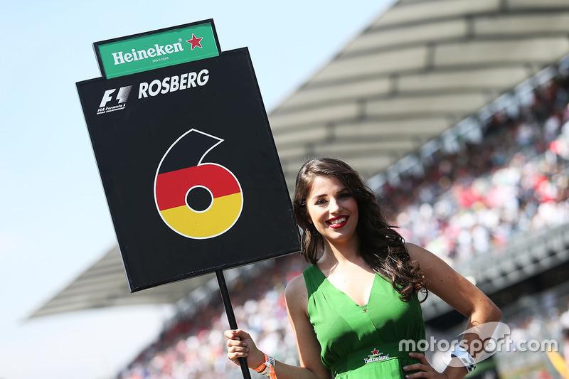 Chica de la parrilla para Nico Rosberg, Mercedes AMG F1