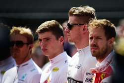 Nico Hulkenberg, Sahara Force India F1 as the grid observes the national anthem
