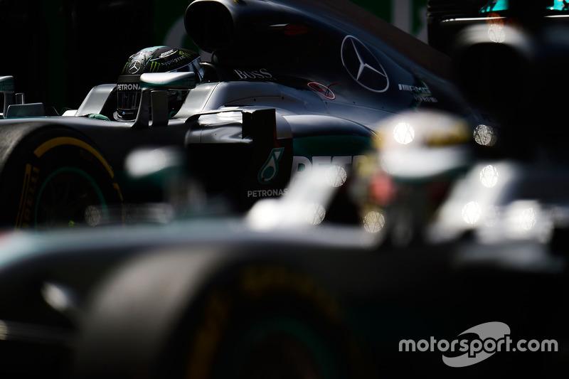Nico Rosberg y Lewis Hamilton, Mercedes AMG F1 W07 Hybrid