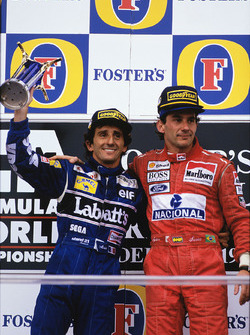 Podium: 1. Ayrton Senna, McLaren; 2. Alain Prost, Williams