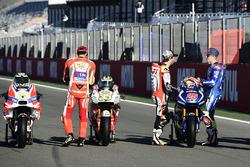 Andrea Iannone, Ducati Team; Cal Crutchlow, Team LCR, Honda; Maverick Maverick Viñales, Team Suzuki Ecstar MotoGP