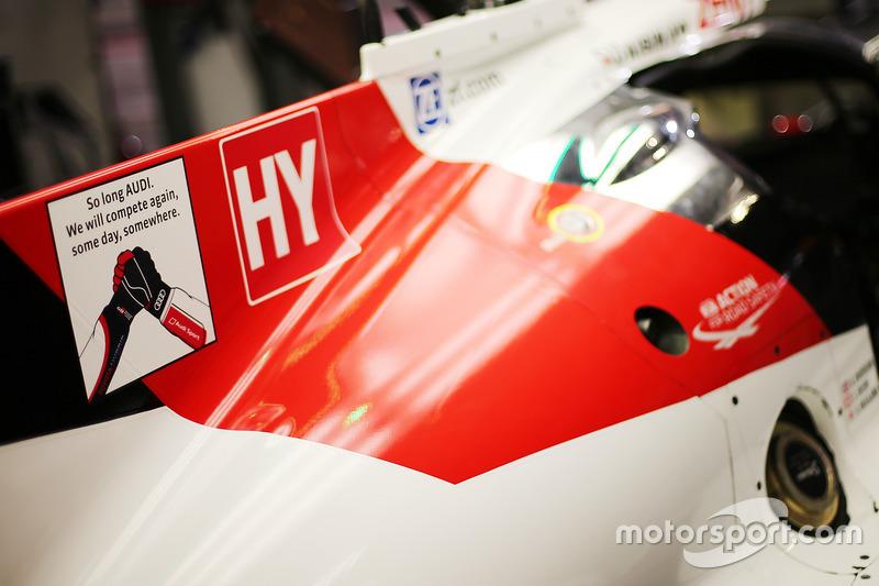 Homenaje a Audi en los coches de Toyota Racing