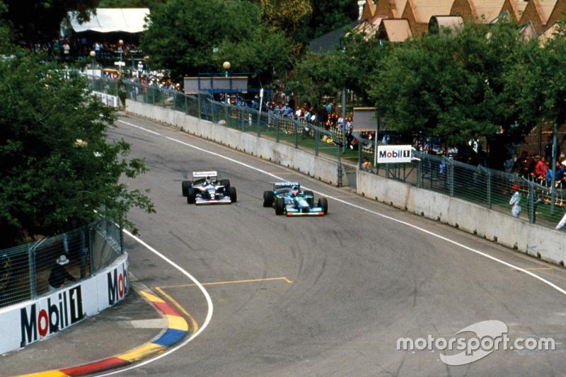 Hill y Schumacher el día que el británico perdió el Mundial de 1994